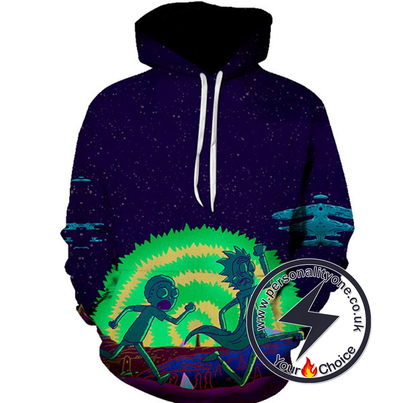 New Rick And Morty Run Away Hoodie