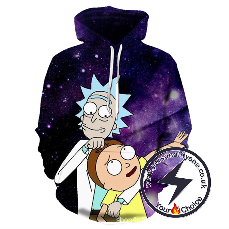 New Rick N Morty 3D Printed Hoodie