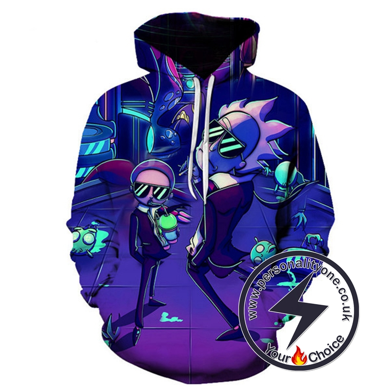 New Rick N Morty Disco Style Hoodie