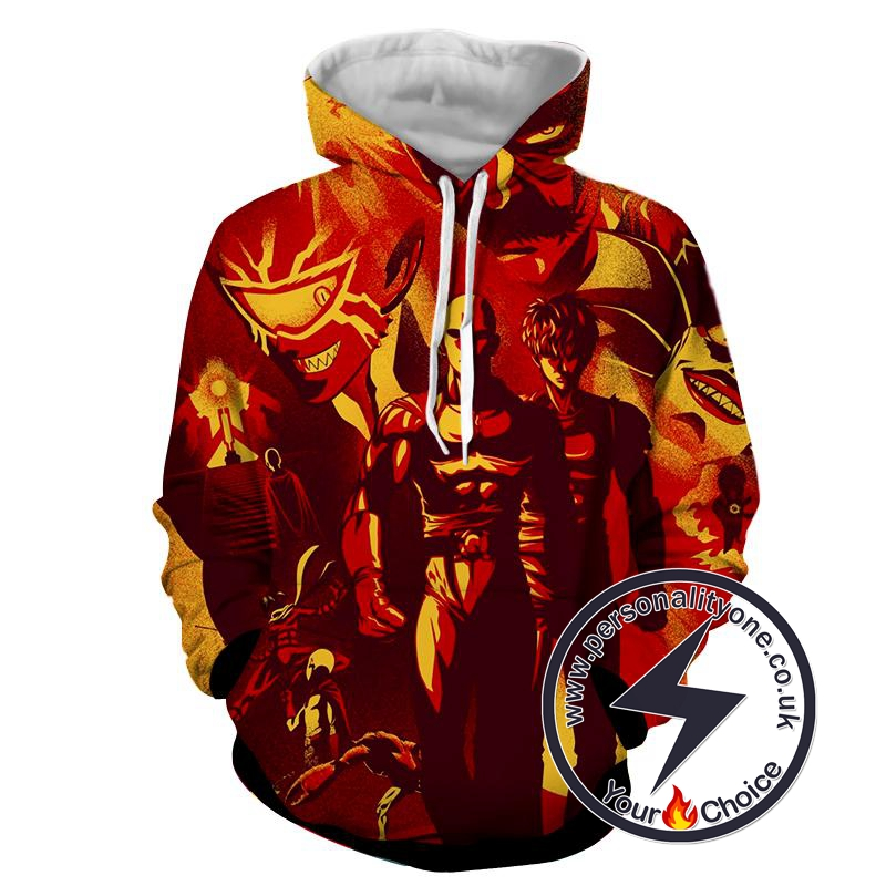 One Punch Man - One Punch Man 3D - Hoodies