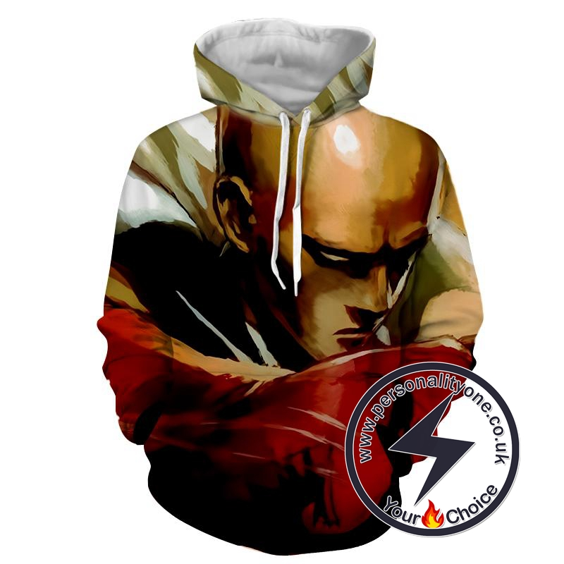 One Punch Man - Saitama 3D - Hoodies