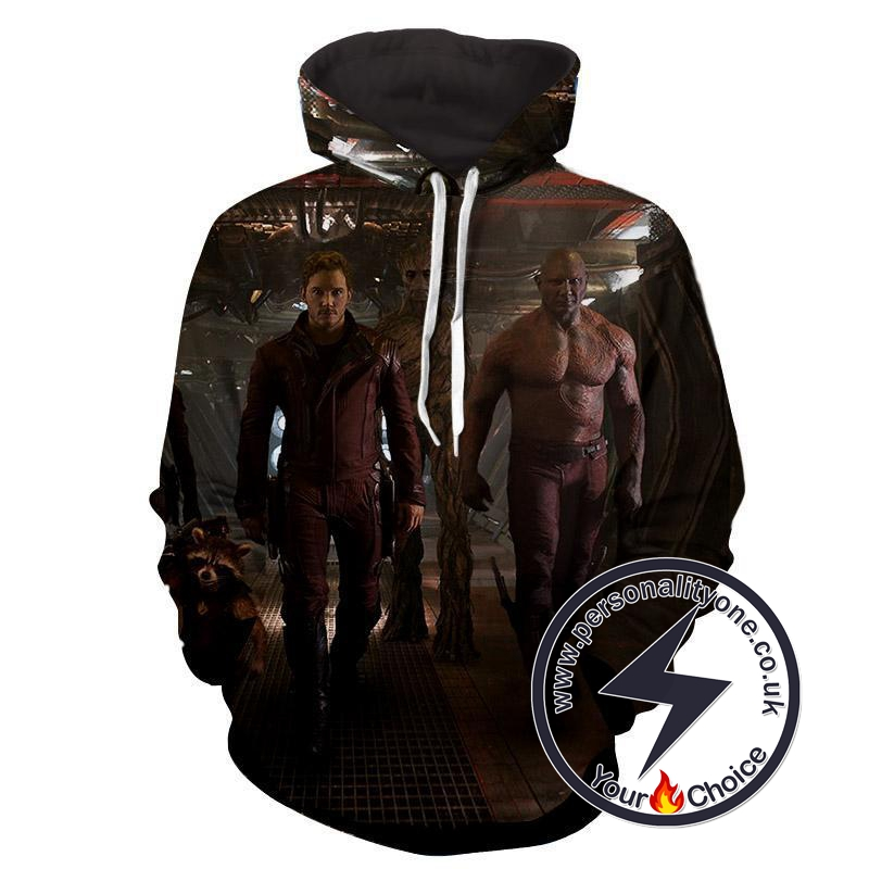 Peter Quill-Drax-Rocket-Groot - Guardian Of Galaxy Hoodies