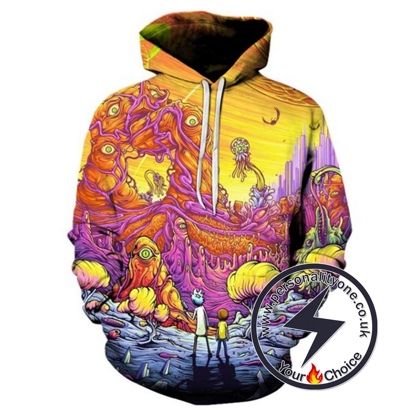 Rick And Morty Cool 3D Hoodie