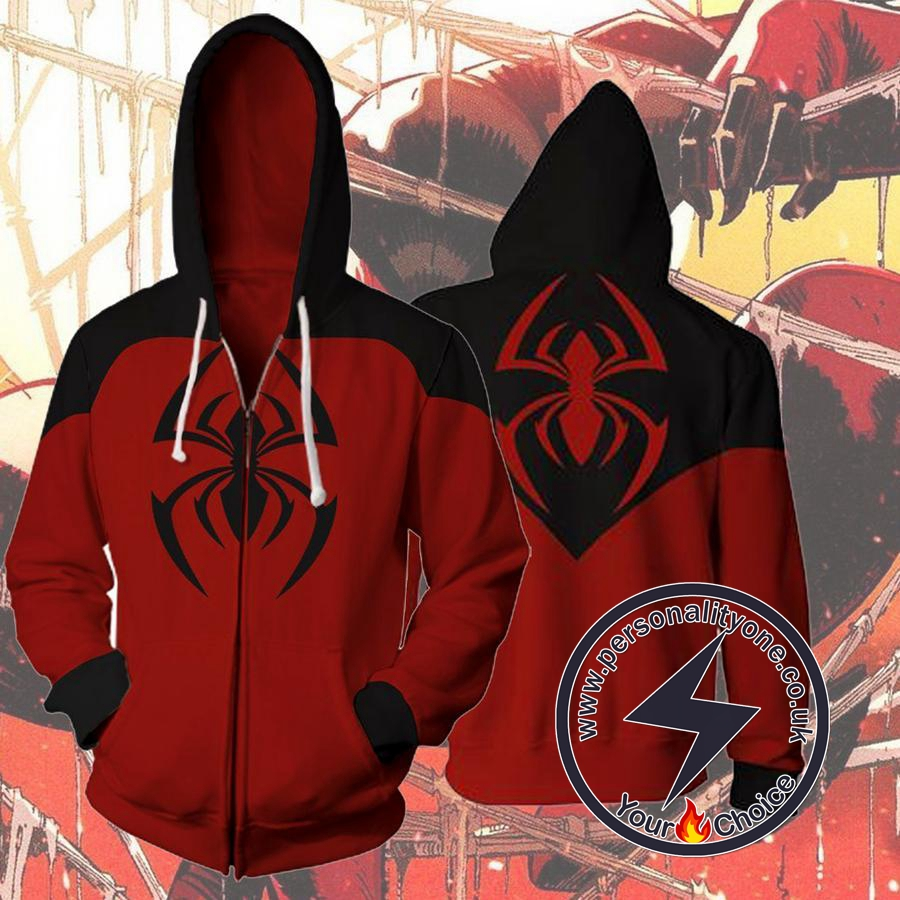 SCARLET SPIDER KAINE PARKER 3D Hoodies - ZIP UP - SPIDERMAN 3D