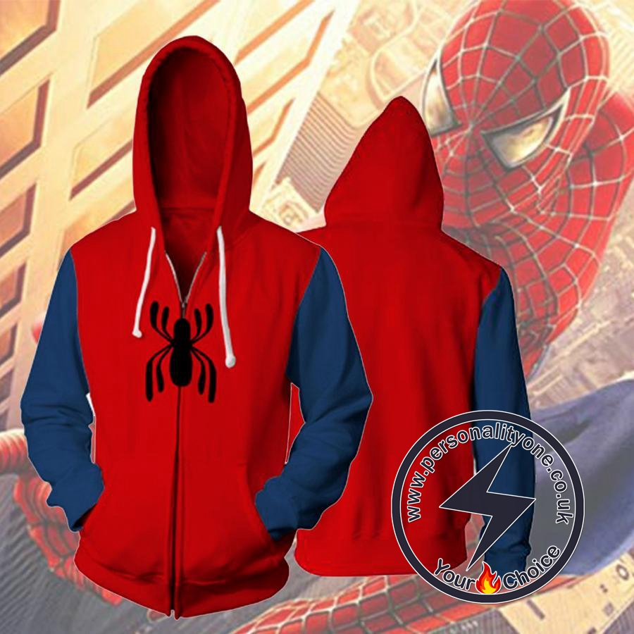 SPIDER MAN HOMECOMING 3D Hoodies - ZIP UP - SPIDERMAN 3D