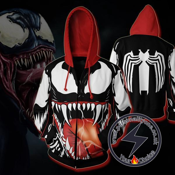 SPIDERMAN - VENOM 3D Hoodies - ZIP UP - SPIDERMAN 3D