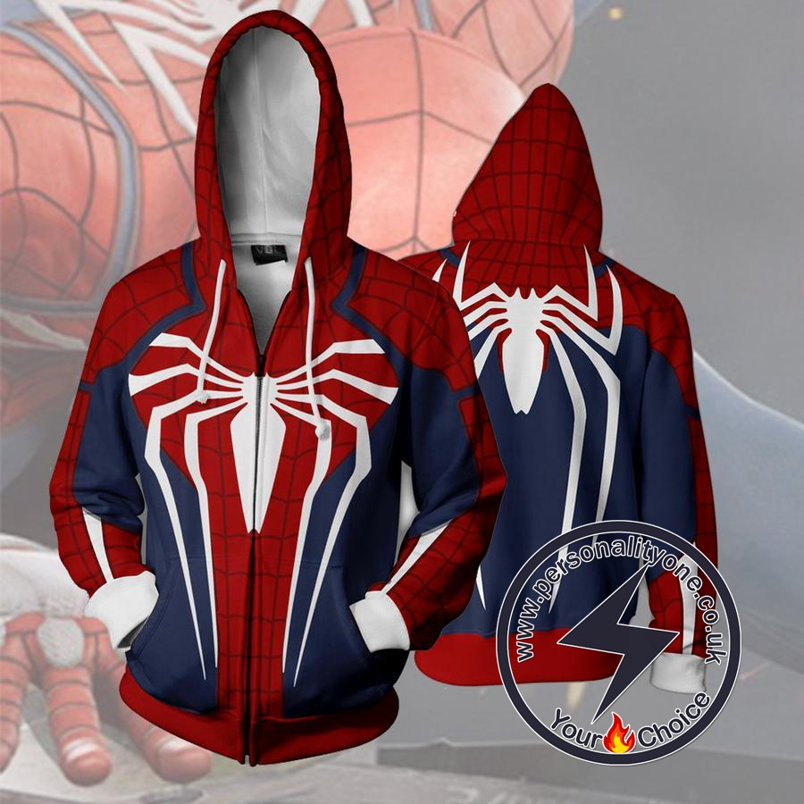 SPIDERMAN PS4 Hoodies - ZIP UP - SPIDERMAN 3D