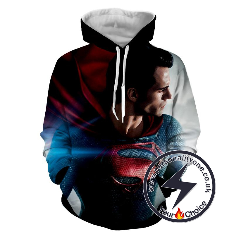 Starring Man Of Steel - Superman Sweat Shirt - Superman Hoodies