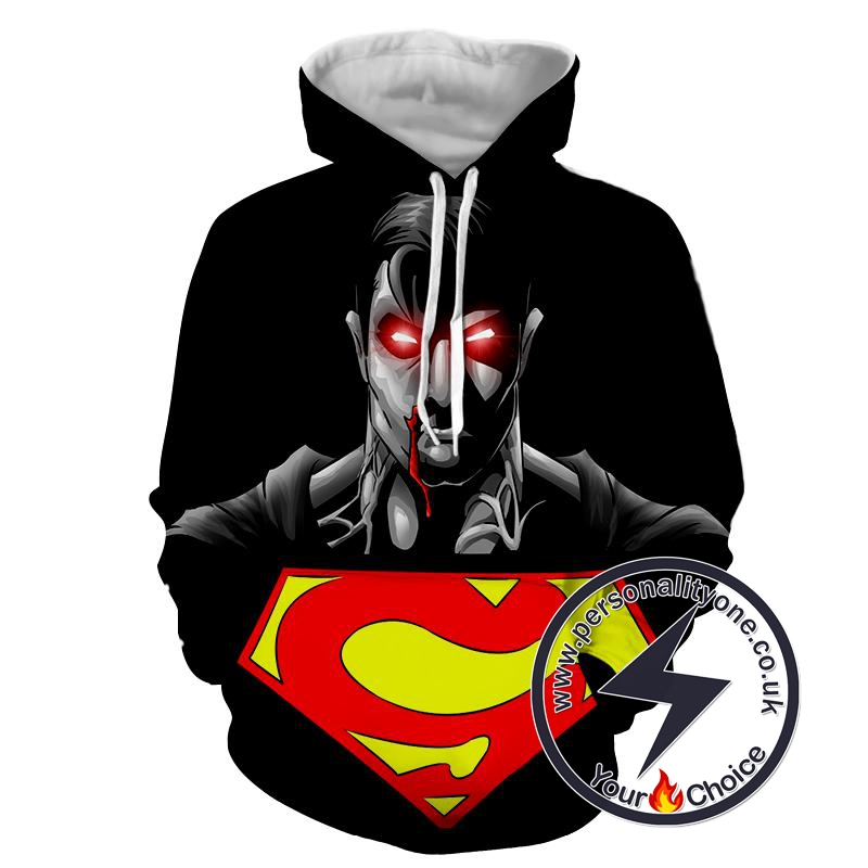 Superman Dark Logo - Superman Sweat Shirt - Superman Hoodies
