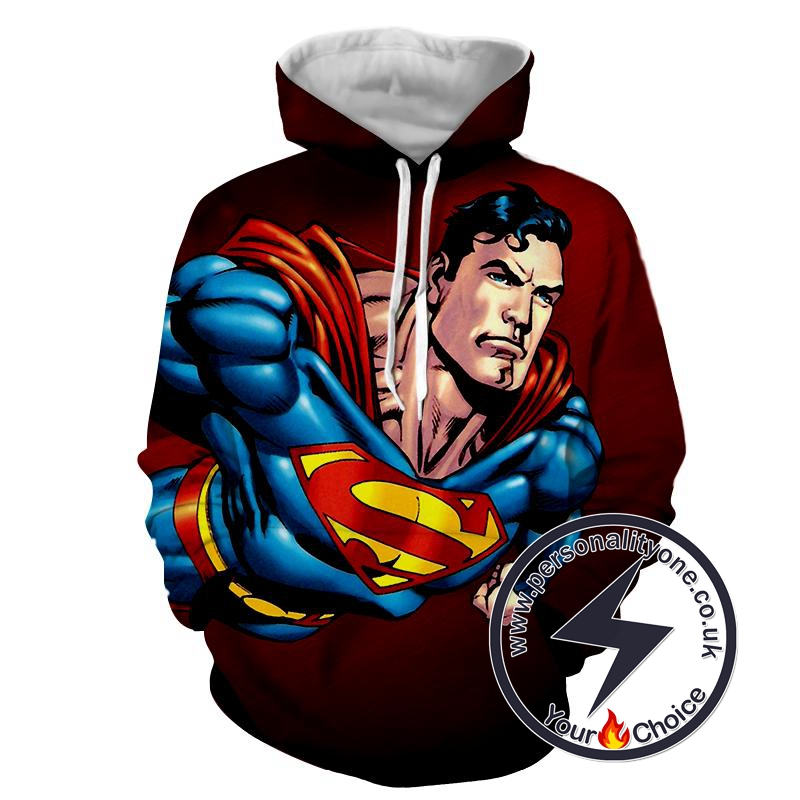 Superman Flying - Superman Sweat Shirt - Superman Hoodies
