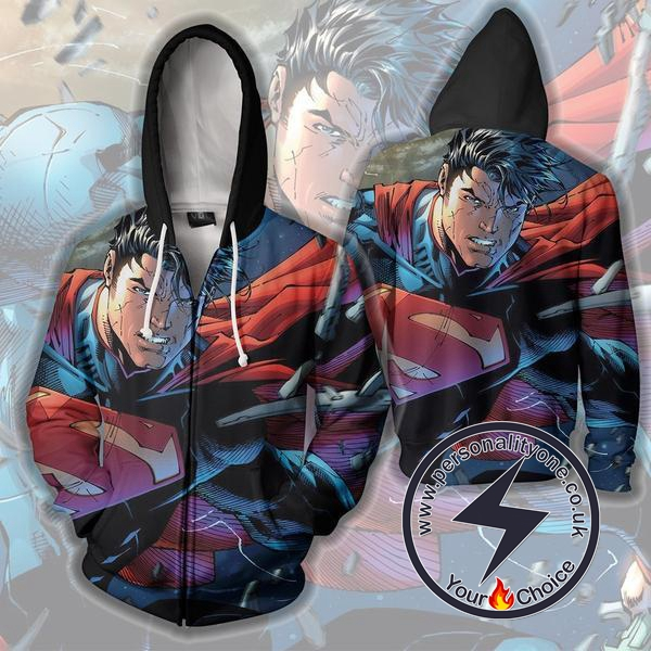 Superman - Superman ZipUp 3D - Superman Hoodies Jackets