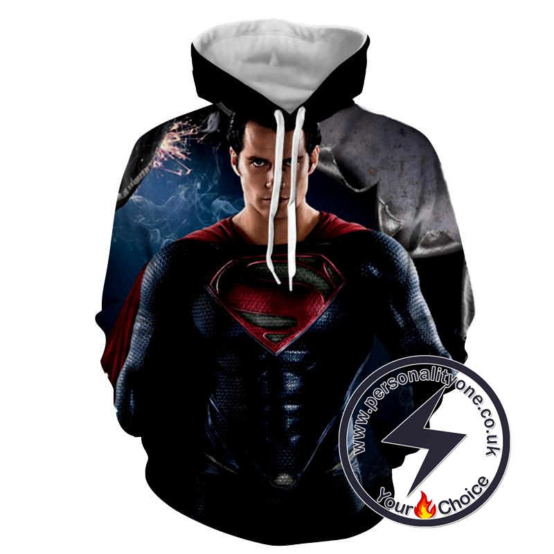 Superman Man Of Steel - Superman Sweat Shirt - Superman Hoodies