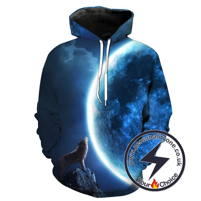 Wolf - Wolf Howling 3D - Wolf Hoodies