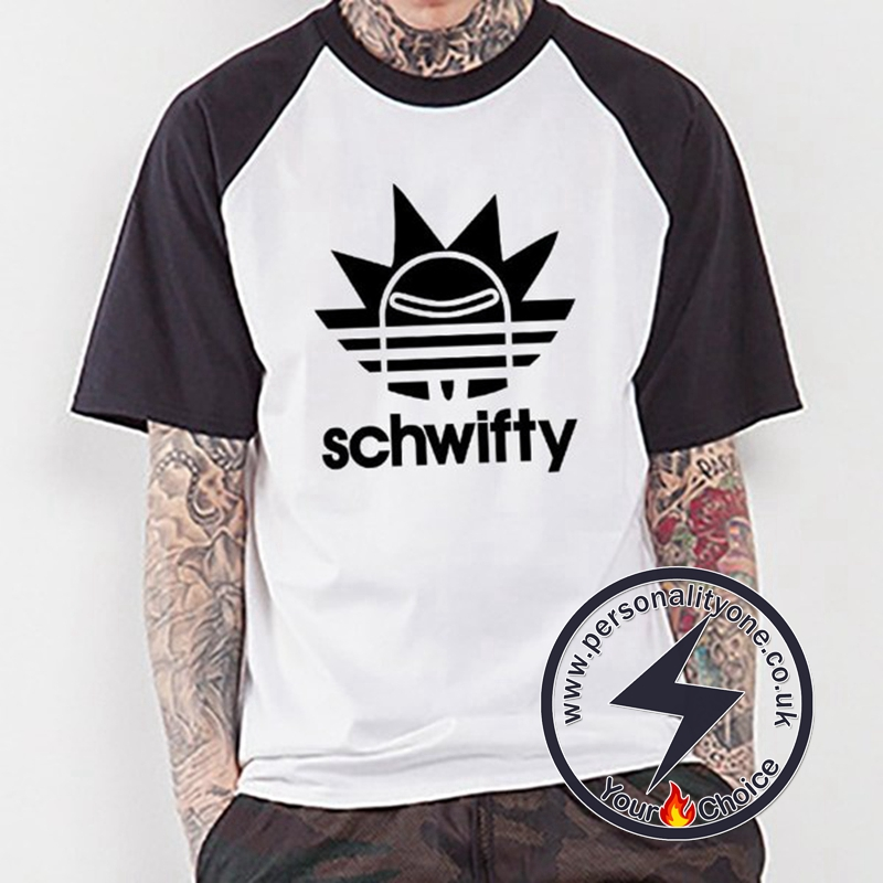 Black Rick Schwifty Raglan T-shirt