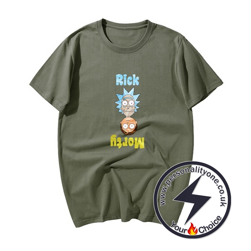 Cool RM Cartoon T-shirts ArmyGreen