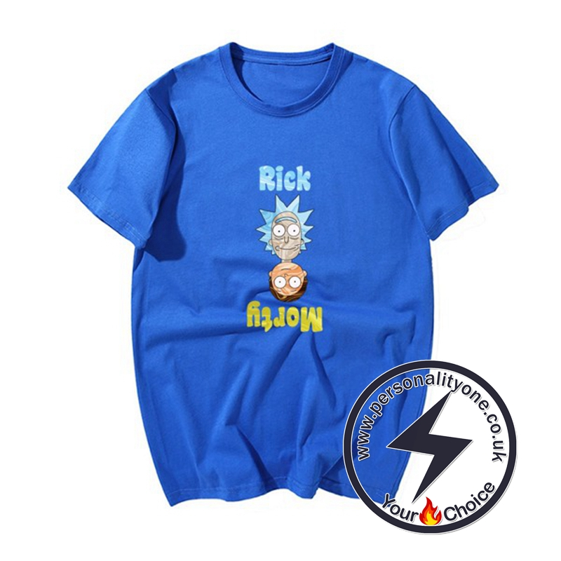 Cool RM Cartoon T-shirts blue