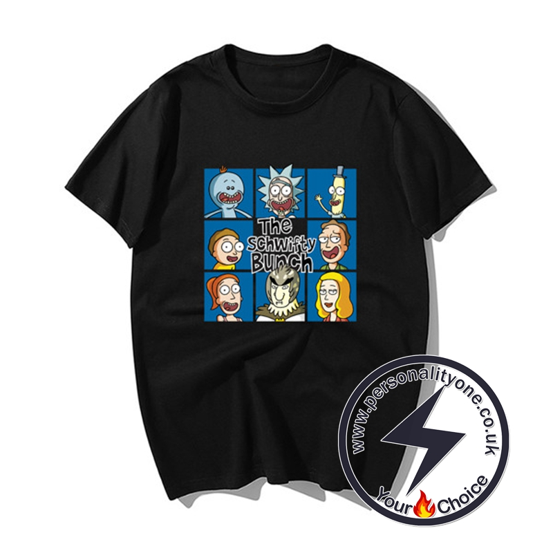 Funny Rick And Morty Summer T-shirts black