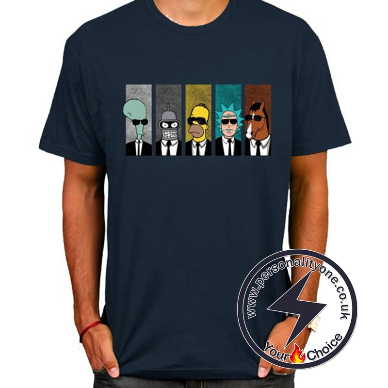 Hot Rick And Morty Cool T-shirt Navy blue