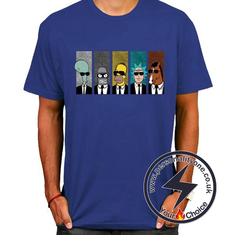 Hot Rick And Morty Cool T-shirt blue