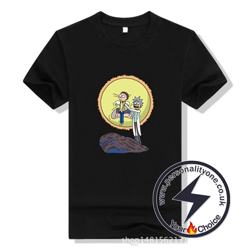 New Arrival Rick And Morty Men T-shirt black
