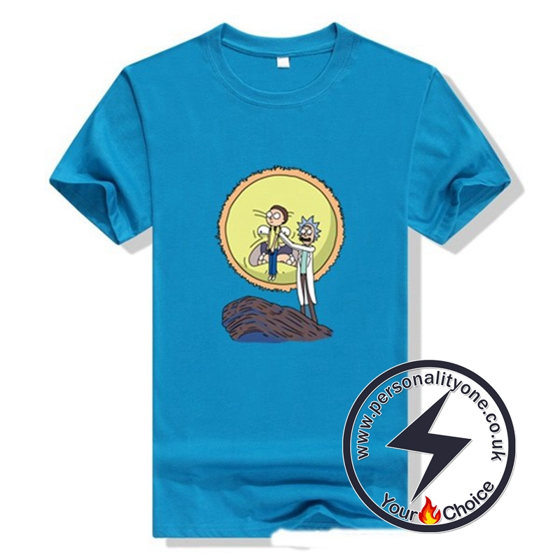 New Arrival Rick And Morty Men T-shirt blue