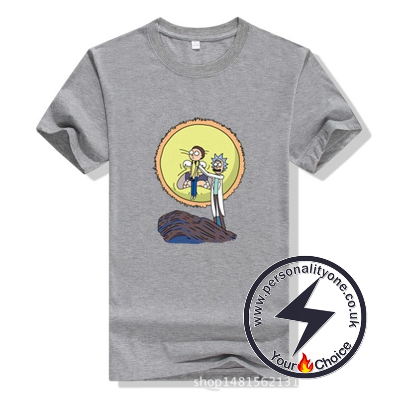 New Arrival Rick And Morty Men T-shirt gray
