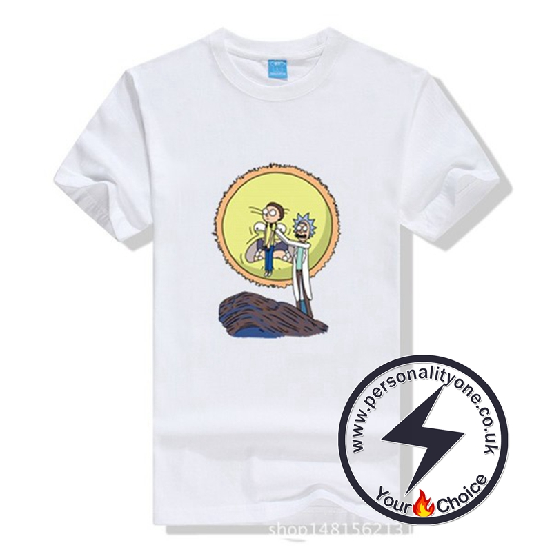 New Arrival Rick And Morty Men T-shirt white