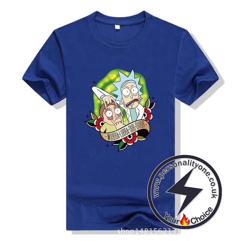 New Cool Rick Morty Summer T-shirt blue
