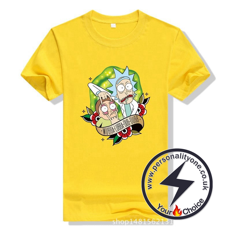 New Cool Rick Morty Summer T-shirt yellow