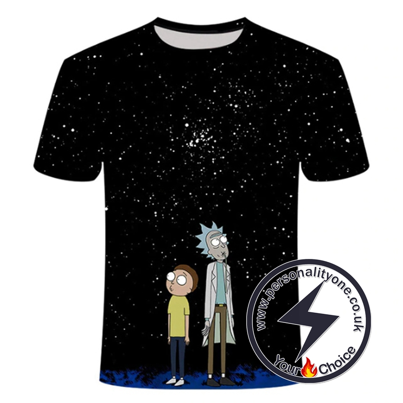Rick And Morty Star Night 3D T-shirt