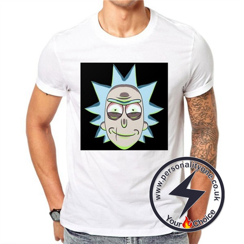 Rick Sanchez Portrait Unisex White T-shirt