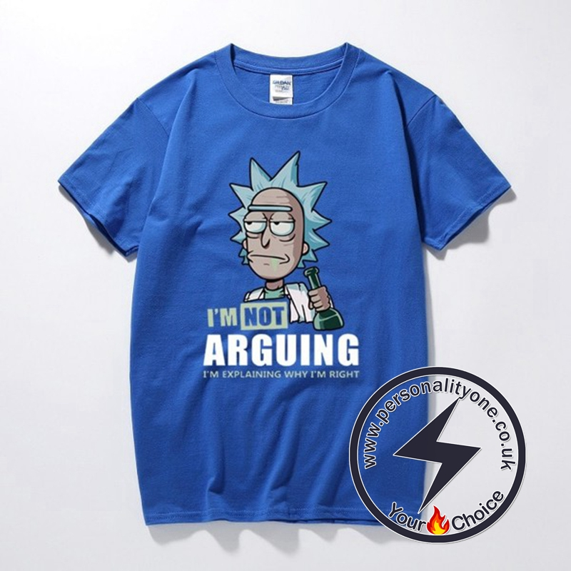 Rick and Morty I'm Not Arguing T-Shirt blue