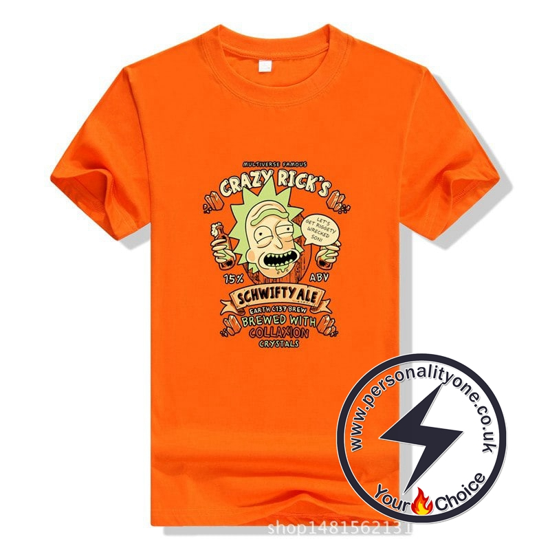 Rick and Morty Short Sleeve T Shirt Orange