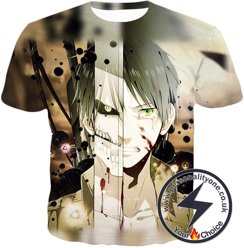 Attack On Titan The Titan Human Eren Yeager T-Shirt