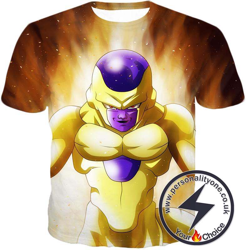 Dragon Ball Super Ultimate Form Golden Frieza Cool Promo Anime T-Shirt