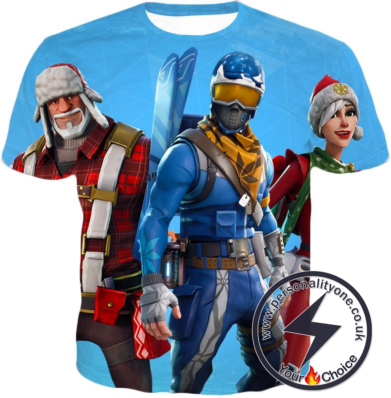 Fortnite T-Shirt Alpine Ace and Christmas Skin Promo