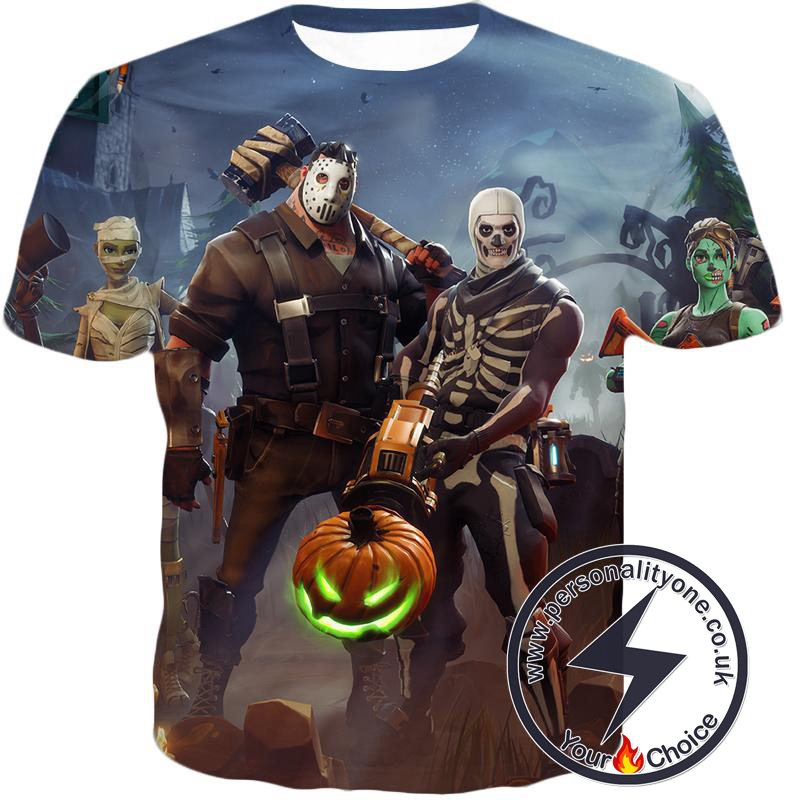 Fortnite T Shirt Battle Royale Halloween Skins Anime Custom