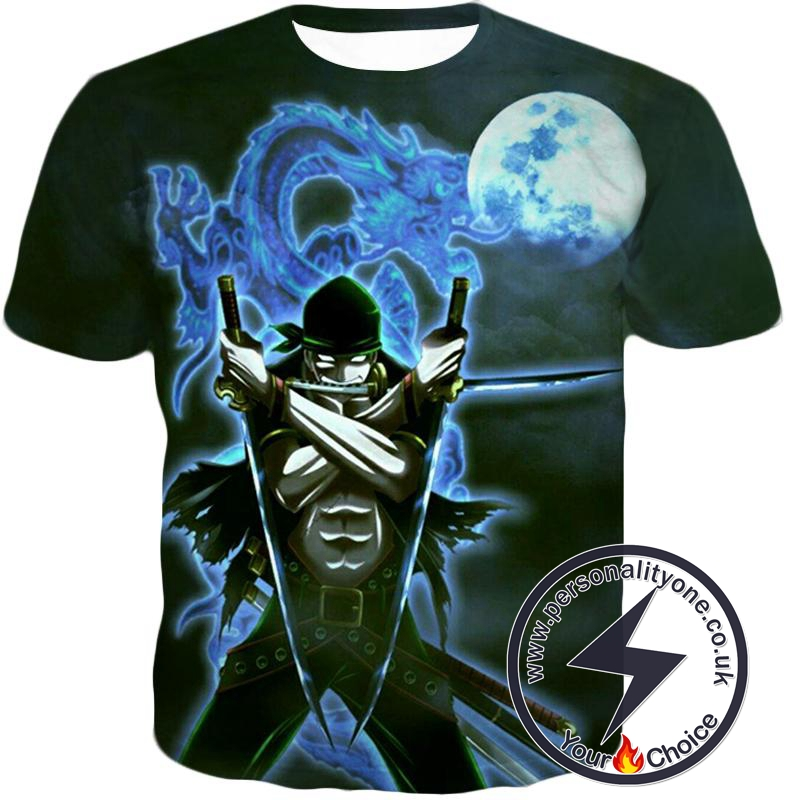One Piece Best Swordsman Roronoa Zoro Awesome Action T-Shirt