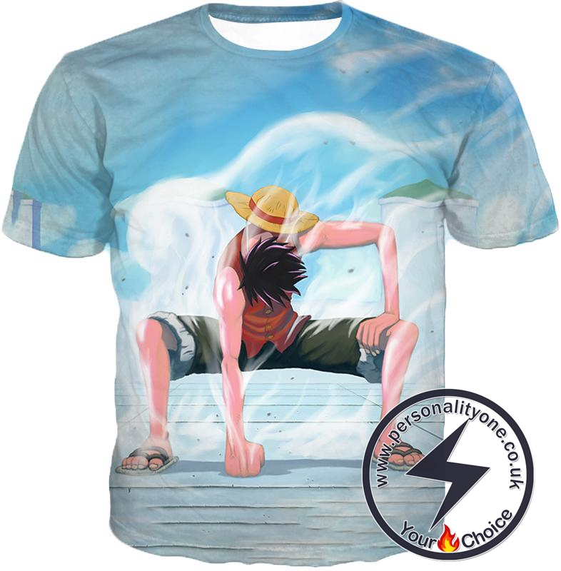 One Piece Cool Monkey D Luffy Second Gear Action T-Shirt