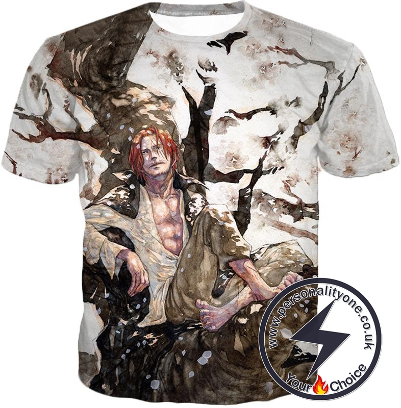 One Piece Coolest Pirate Emperor Shanks Awesome T-Shirt