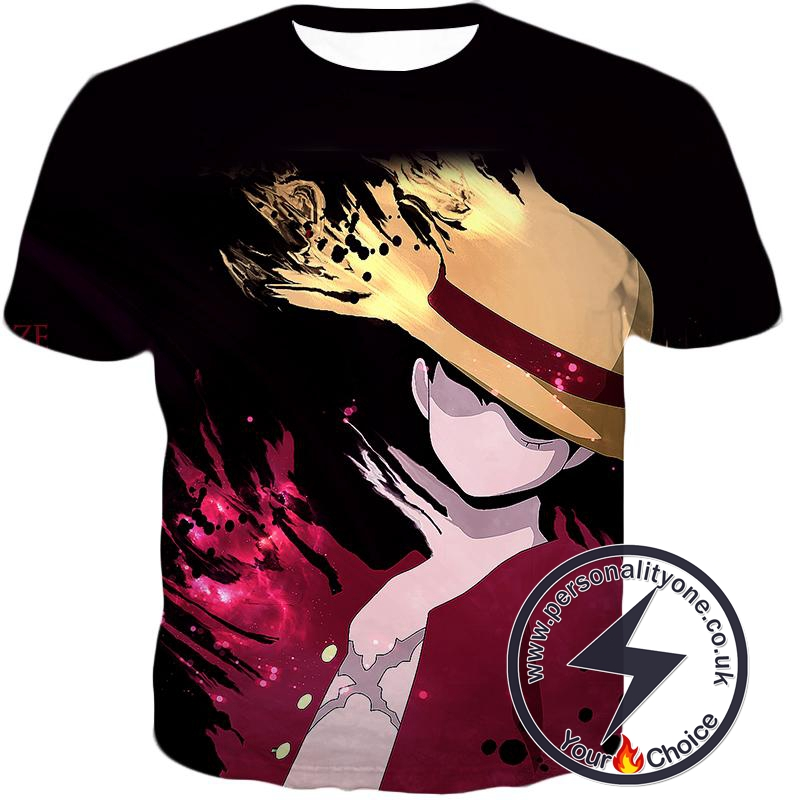 One Piece Super Cool Pirate Captain Straw Hat Luffy Cool Black T-Shirt