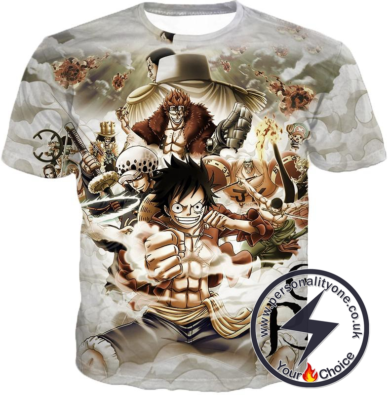 One Piece Worst Generation Highest Bounty Pirates All in One Cool T-Shirt